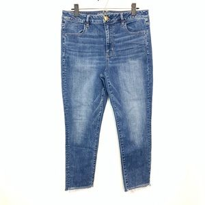 American Eagle | High Rise Skinny Jeans Frayed 14
